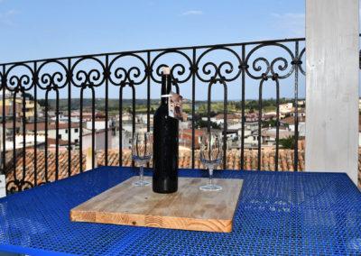 hora mare bottiglia tavolo terrazza